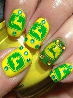 John Deere Nails!   Love!