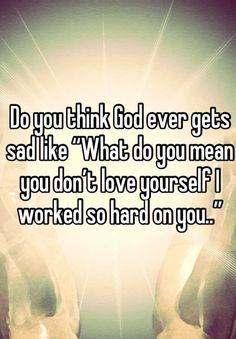 So true thoughts, life, faith, god loves you quotes, true, inspir, beauti, sad jesus, hard
