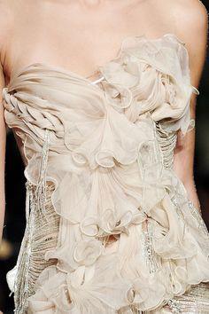 #drape #layer #sheer #metallic #silver #white #beige #gemstone #flowy #fitted #texture #silky #feminine