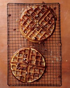Maple-Brown-Butter Dessert Waffles. I drool now.