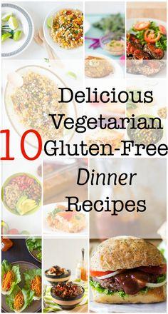 10 Delicious Vegetarian Gluten-Free Dinner Recipes #glutenfree #vegetarian #vegan #healthy #dinner