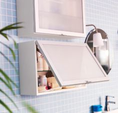 Don't let any space go to waste! The LILLÅNGEN wall cabinets have an adjustable shelf, so they're great for storing everything from nail polish to shampoo.