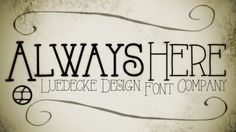 AlwaysHere font by J