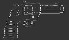 ascii art - gun
