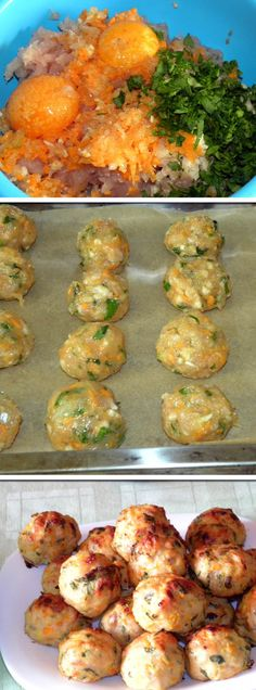 """Baked chicken meatballs<3 """"Let's FOLLOW each other and enjoy all the cool stuff here on pintrest."""" Christy Tusing Borgeld"""