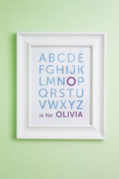 You could make this on your computer in any font and frame in a big chunky decorative frame or rustic frames for a boys rustic room. Then add the Name meaning too...possibilities are endless! SO CUTE!