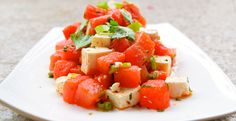 Watermelon & Feta Salad #MeatlessMonday #summer