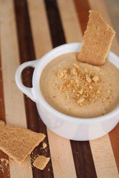 pumpkin and greek yogurt dip with only 1 tbsp of brown sugar. Yum.