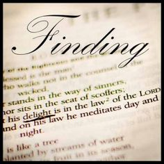 Finding delight in the law of the Lord