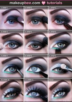 Step-By-Step #Tutorial for Smokey Eye on @Makeupbee