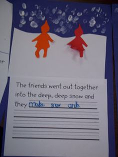 Mrs. Wood's Kindergarten Class: The Snowy Day Writing Activity