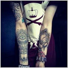 Creativity of Designing the Wolf Tattoo Designs: Eyes Wolf Tattoo Designs For Men On Arm ~ Tattoo Design Inspiration