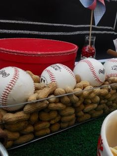 Baseball in Peanuts display