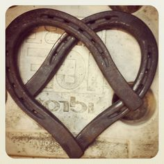 Horseshoes welded into a heart :)