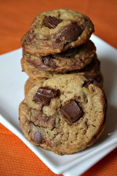 Nutella Chunk Cookies #recipe