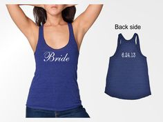 perfect for those bachelorette party weekends. love that you can get your wedding date printed on the back!