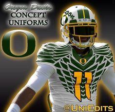 Oregon Ducks Concept Uniforms