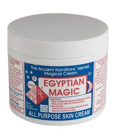 "EGYPTIAN MAGIC - The Ancient Kamitians' Secret Cream - ""We love Egyptian Magic not only as the go-to product for days when your skin is upset with you, but as the solution for anything from split ends, nappy rash, under eye circles, eczema, psoriasis, dry elbows, knees and cracked heels, to name but a few of its many talents. "" – Sarah Coonan, Beauty Buyer"