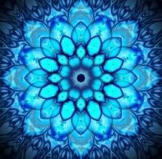 Blue mandala. For Leigh