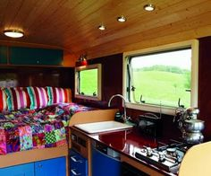 Cool Campervan  (love these colors)