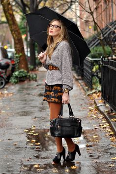 Rainy Day outfit. love this.