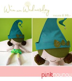 What can you win :: this super lovely handmade soft doll from PinkNounou What do you have to do :: just leave a comment telling us what your favorite item from PinkNounou is. Winner will be announced :: next week...