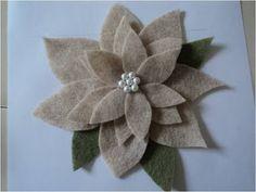 felt pointsettia - in neutral holiday colors
