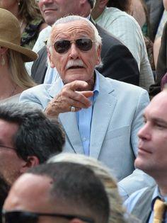 Stan Lee On Set Of 'The Amazing Spiderman 2' 06/02/2013