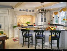 Warm french country kitchen design Kitchen Theme Ideas