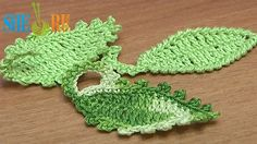 How To Crochet Leaf Oval Shape Tutorial 12  http://sheruknitting.com/videos-about-knitting/crochet-leaf-lessons/item/239-how-to-crochet-leaf-oval-shape.html With this tutorial you will be able to crochet a simple oval leaf. Make a trim around and leaf became different. Trimming we do with single crochet stitches and picot. You can also trim the leaf with reverse single crochet stitch, it also looks good. The leafstalk is also unusual... Good luck to You!