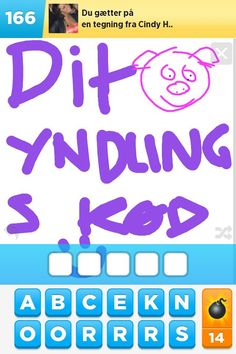 "Danish: ""Your favorite meat"" in Draw Something ;)"