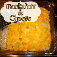 Mockafoni & Cheese (cauliflower) from DianaRambles.com @Diana Rambles #low-carb #recipe #yummy