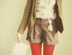 shorts and tights.