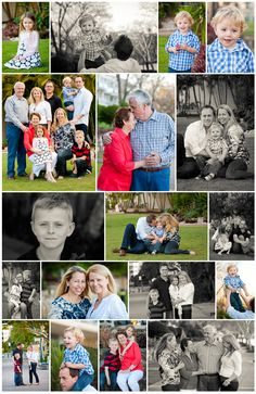 Extended family collage