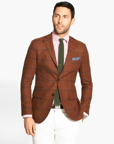 GQ Selects with Nordstrom: August: Wear It Now: GQ men styles, nordstrom, cloth, blazer, color, fall jackets, pink, michael bastian, style blog