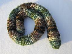 Crochet Snake Toy Door Draft Stopper by crochetedbycharlene, $25.00 #snakes #crochet #door draft stopper