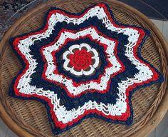 Ravelry: Stars & Stripes 15 inch doily pattern by Shirley Strand strand, crochet doili, doili pattern