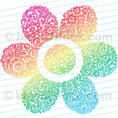 Hand-Drawn Sketchy Henna Paisley Flower Doodle Drawing Vector Illustration by blue67design by blue67design, via Flickr