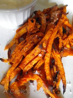Chipotle Sweet Potato Fries and garlic aioli dipping sauce