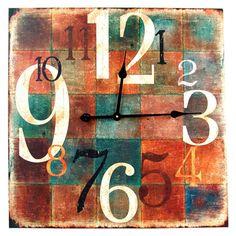Delia Wall Clock Wall Art