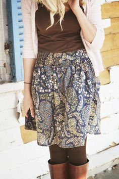 I have this skirt, and I've been trying to think of ways to wear it!