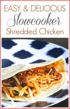 Easy Slowcooker Shredded Chicken Recipe-- just a few ingredients and your crockpot does all the work! It's what's for dinner tonight. :) #recipes #slowcooker via www.makinglemonadeblog.com