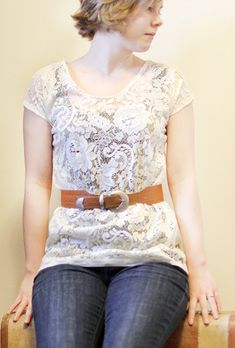 #diy lace top #sewing #tutorial