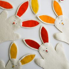DIY Easter Bunny Hand Puppets- A cute non-candy treat for your kids' Easter basket or make them with your kids!
