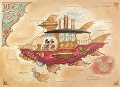 Steampunk Tendencies | Mickeys-Steam-Powered-Airship-mechanical-kingdoms