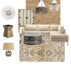 Neutral color- Decor tip: perk up your beige walls, add visual interest with textured wall covering!