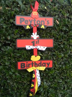 Mickey Mouse Party Sign. $17.00, via Etsy.