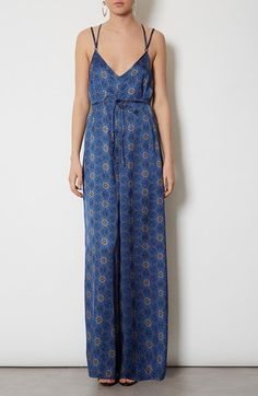 Topshop 'Spider Floral' Print Jumpsuit available at #Nordstrom