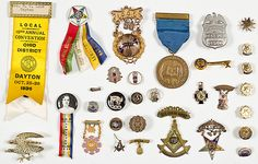 Fraternal Pins for William J. Bradbury & Others, Including 14K Gold Pin, Plus (9/23/2013 - American History-TIMED)