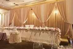 The longest Sweetheart Table I've ever seen...fantastic!    Wedding Decor Toronto